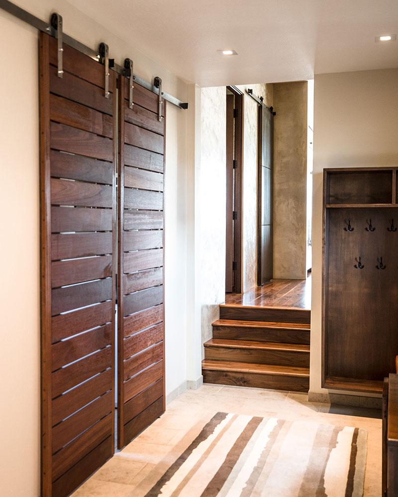 Black Bull residence hallway and coat cabinet