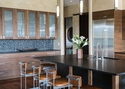 Black Bull residence kitchen cabinets