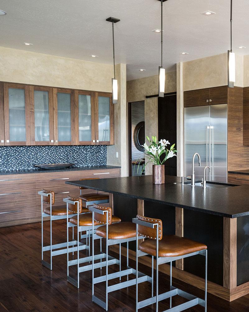 Black Bull residence kitchen cabinets