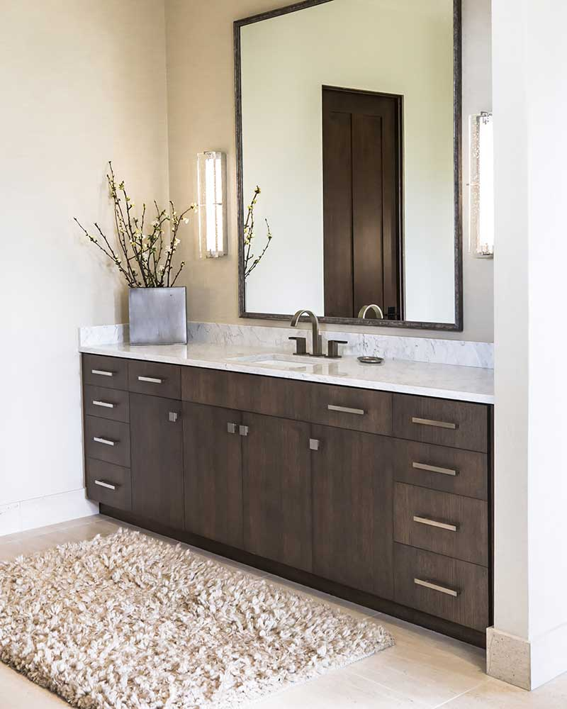 bathroom cabinet in Black Bull Residence designed by Elizabeth Robb Interiors