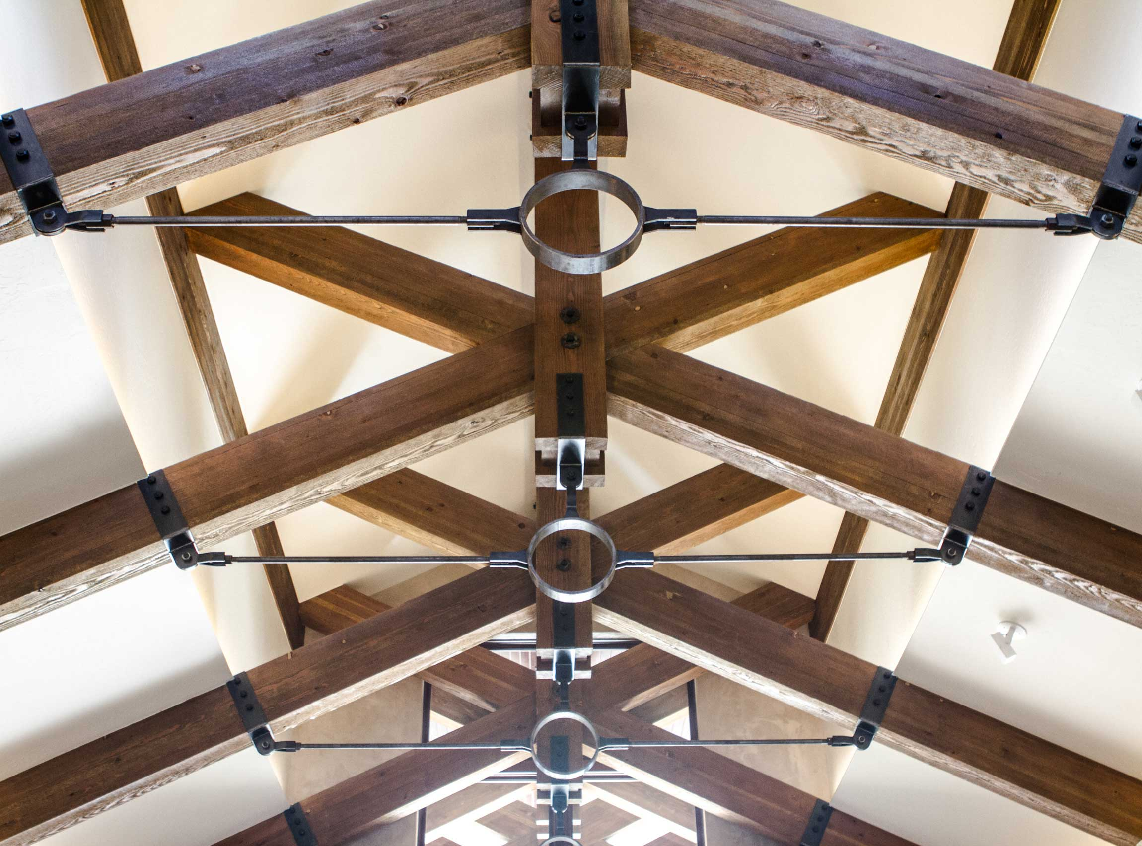 vaulted ceiling in Black Bull Residence designed by Elizabeth Robb Interiors