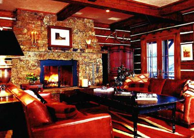great room at the Aspen Ranch designed by Elizabeth Robb Interiors