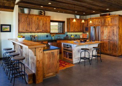 kitchen at the Shields River Residence designed by Elizabeth Robb Interiors