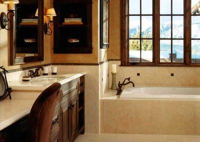 bathroom at the Spanish Peaks Residence designed by Elizabeth Robb Interiors