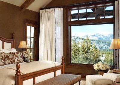 bedroom at the Spanish Peaks Residence designed by Elizabeth Robb Interiors
