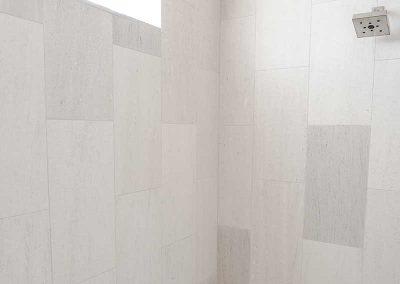 shower in Black Bull Residence designed by Elizabeth Robb Interiors