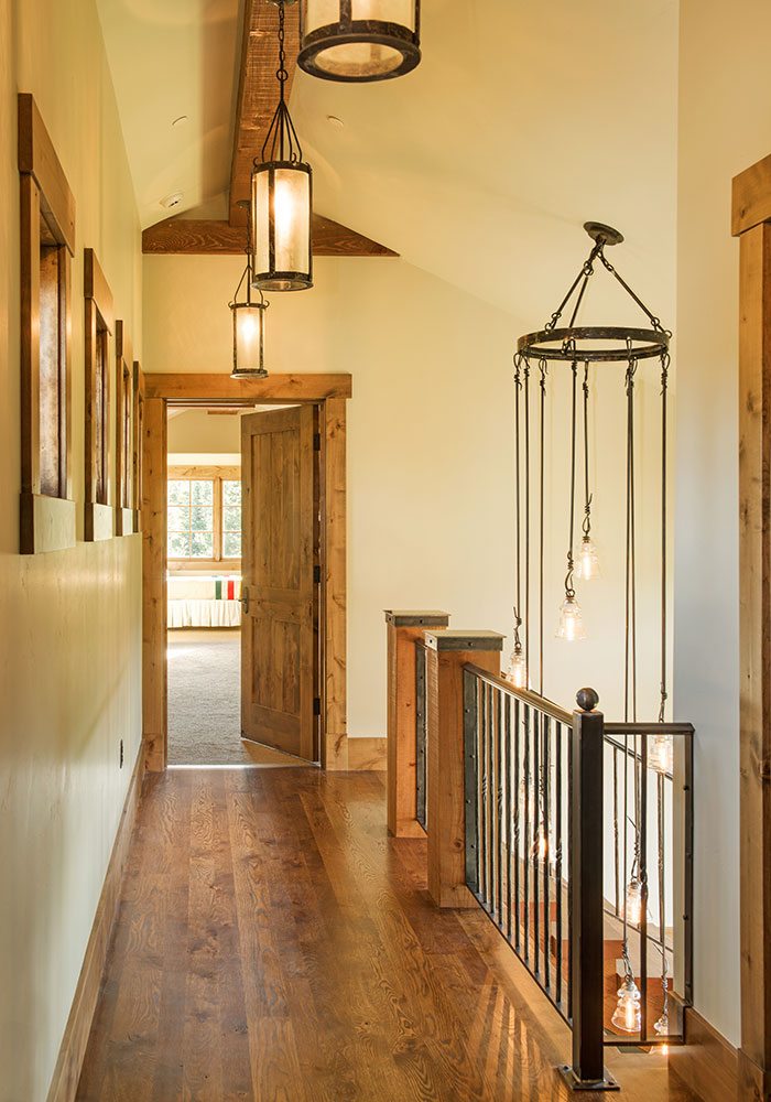 hallway in The Big EZ residence with interior design by Elizabeth Robb Interiors
