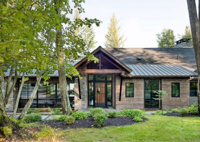 front exterior of the Flathead Lake retreat by Elizabeth Robb Interiors