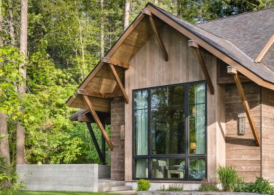 exterior window at the Flathead Lake retreat by Elizabeth Robb Interiors